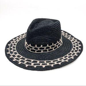 Brixton NEW Joanna Embroidered Wide Brim Straw Hat